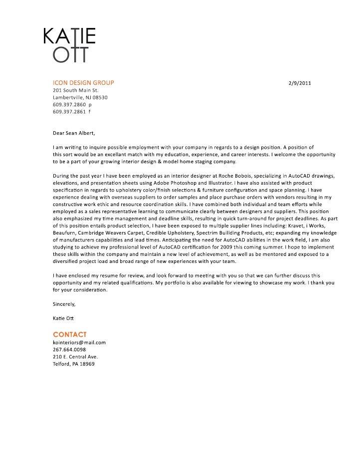Katie ott (cover letter + resume)