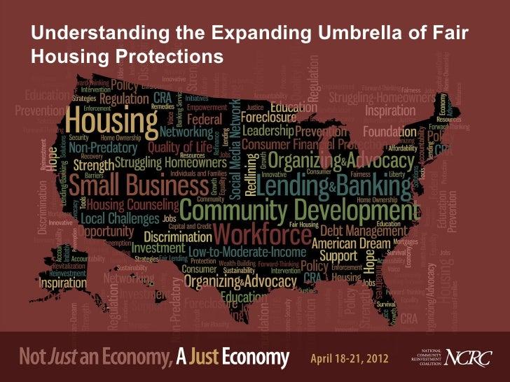 Understanding the Expanding Umbrella of FairHousing Protections