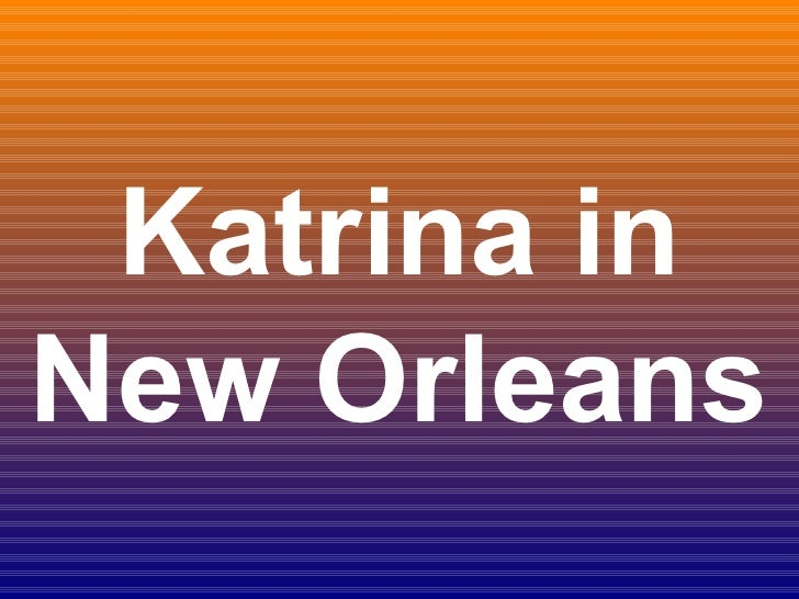 Katrina in New Orleans