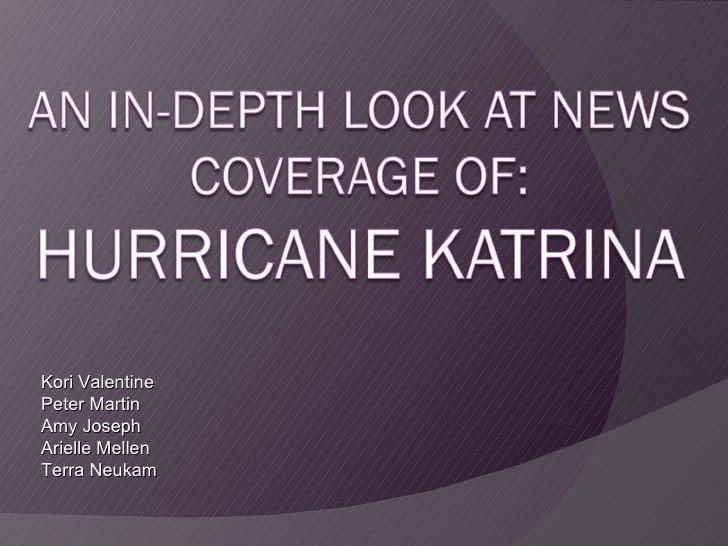 Katrina news coverage
