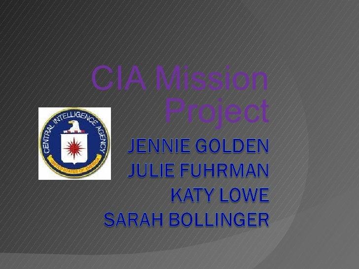CIA Mission Project