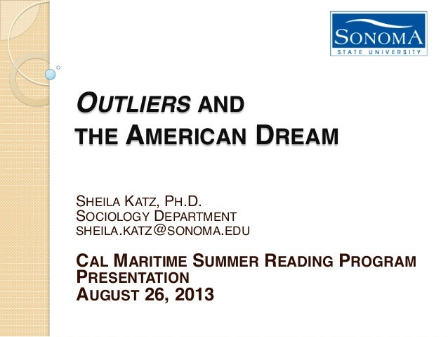 Katz Lecture: Outliers and the American Dream