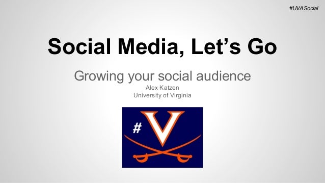 #UVASocial  Social Media, Let's Go Growing your social audience Alex Katzen University of Virginia