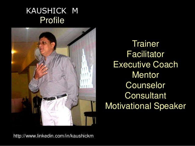 Kaushick m  profile  aug'12