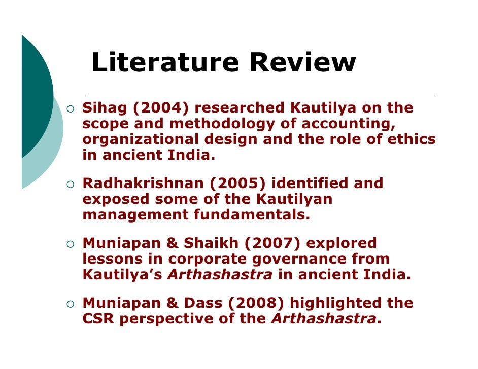 accounting literature reviews All literature reviews should be more than a mere description of the current state of knowledge of an area  accounting change in central government.