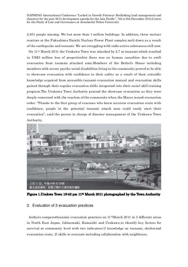 Tsunami research paper