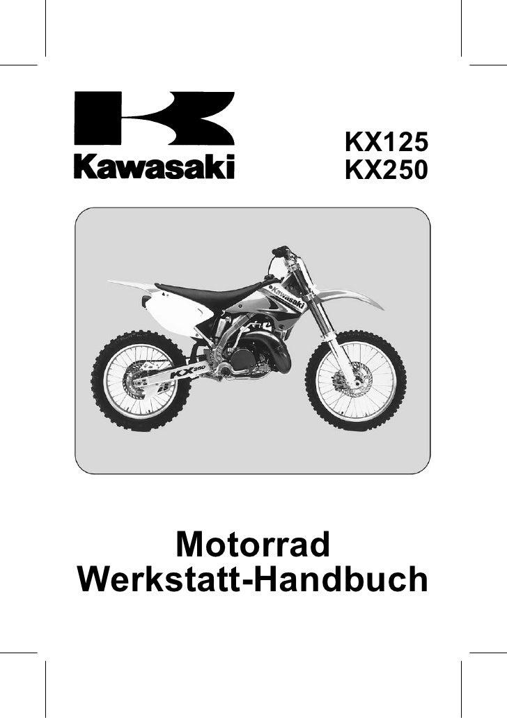 Kawasaki Kx125,250 Service Manual Ger By Mosue