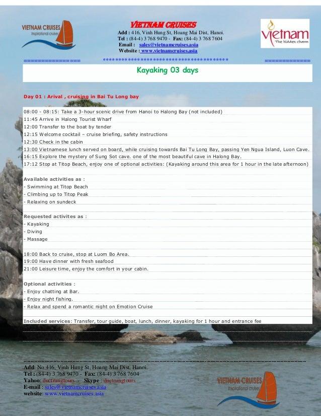 halong cruises: Kayaking 03 days