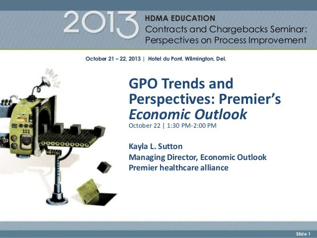 GPO Trends and Perspectives: Premier's Economic Outlook