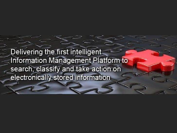 The First Enterprise-Class Information Access Technology Platform