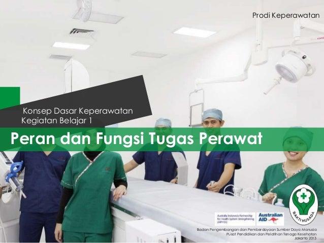 Prodi Keperawatan  Konsep Dasar Keperawatan Kegiatan Belajar 1  Peran dan Fungsi Tugas Perawat  Badan Pengembangan dan Pem...