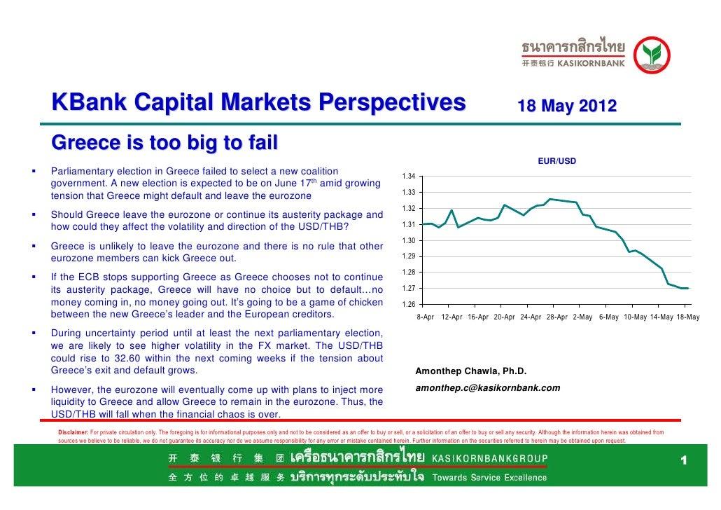 KBank Capital Market perspective May 18 greece