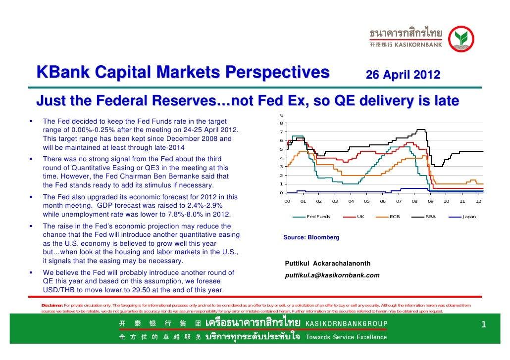 KBank Capital Market perspectives Apr 26  fomc