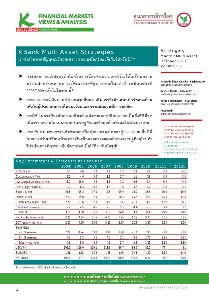 KBank Multi Asset Strategies Oct 2011   thai