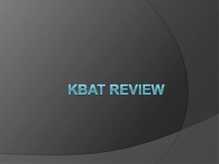 Kbat 4 review