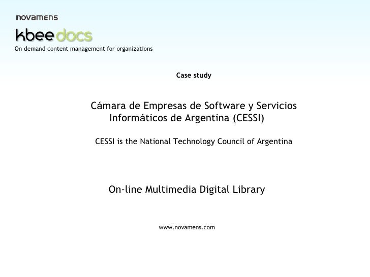 CESSI Digital Library Case Study Eng