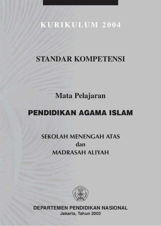 Kbk sma a. pendidikan agama islam