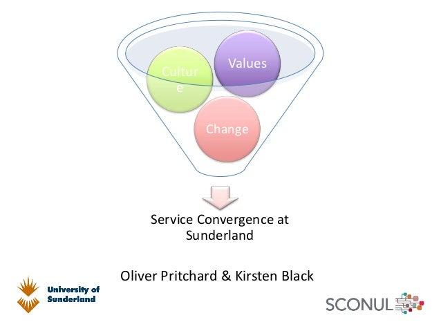 Service Convergence at Sunderland Change Cultur e Values Oliver Pritchard & Kirsten Black
