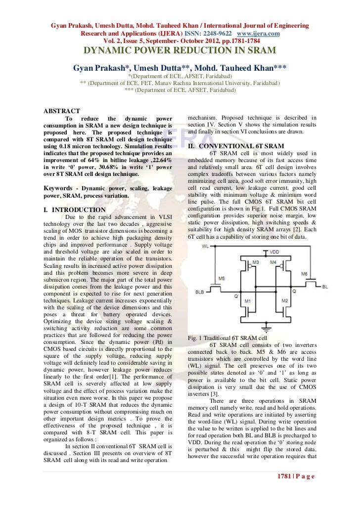 Gyan Prakash, Umesh Dutta, Mohd. Tauheed Khan / International Journal of Engineering            Research and Applications ...