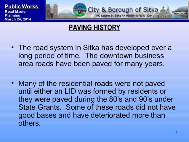 Sitka Road System Master Planning & Funding Strategies