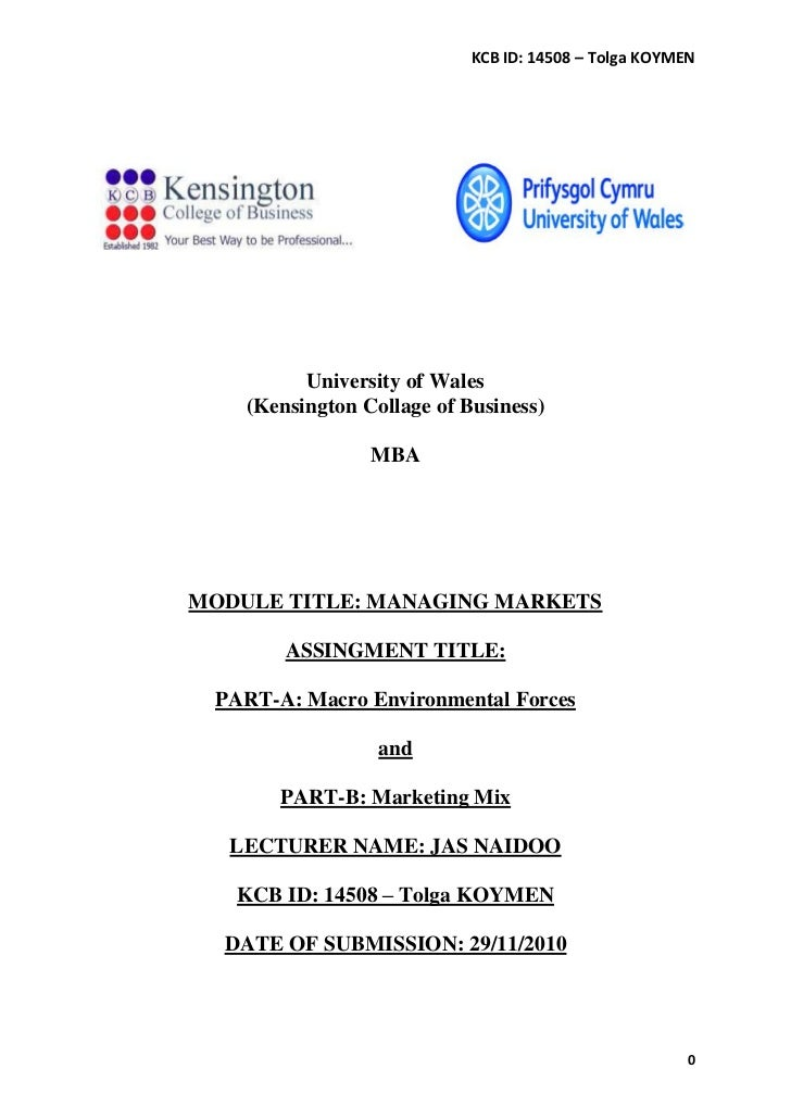 MANAGING MARKETS - Macro Environmental Forces and Marketing Mix / Commonwealth Games 2010 India
