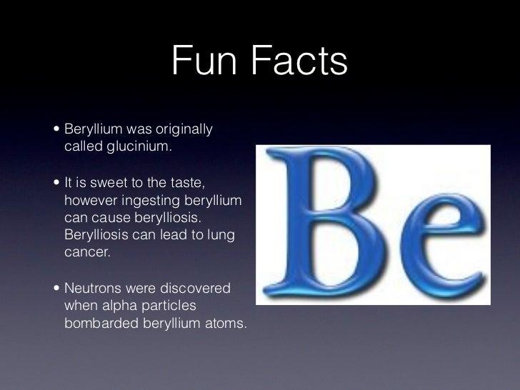 Be Beryllium