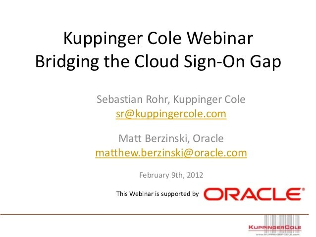 Bridging the Cloud Sign-On Gap
