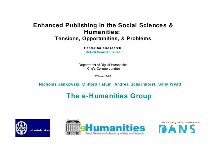 KCL CeRch presentation, enhanced scholarly publications, 27march2012