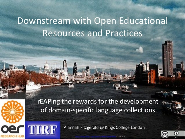 Downstream with Open Educational Resources and Practices rEAPing the rewards for the development of domain-specific langua...