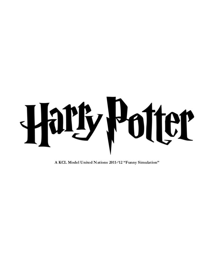 KCL MUN Study Guide - Harry Potter (29/11 and 6/12/2011)