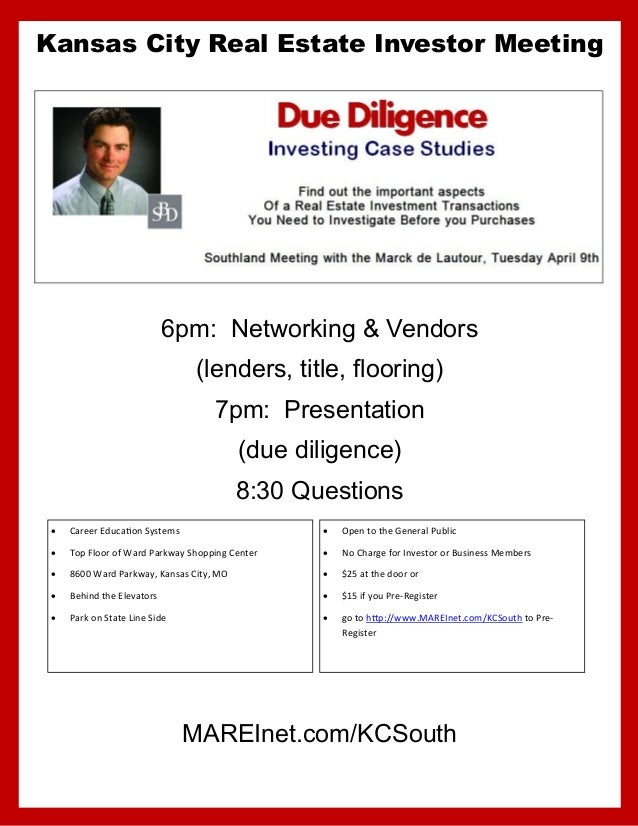 Kansas City Real Estate Investor Meeting                            6pm: Networking & Vendors                             ...