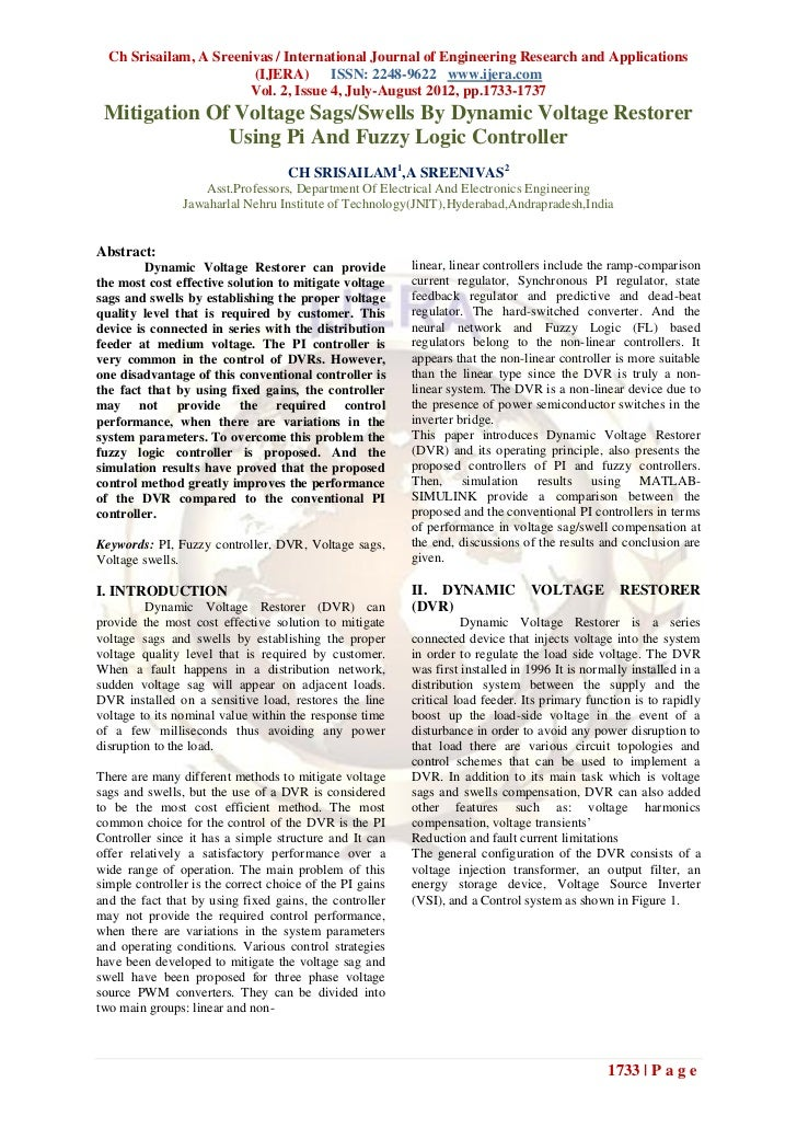 Ch Srisailam, A Sreenivas / International Journal of Engineering Research and Applications                        (IJERA) ...