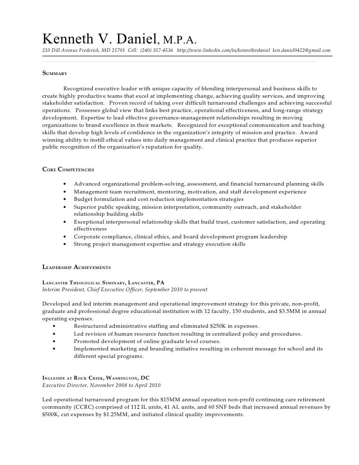 writing resume in english