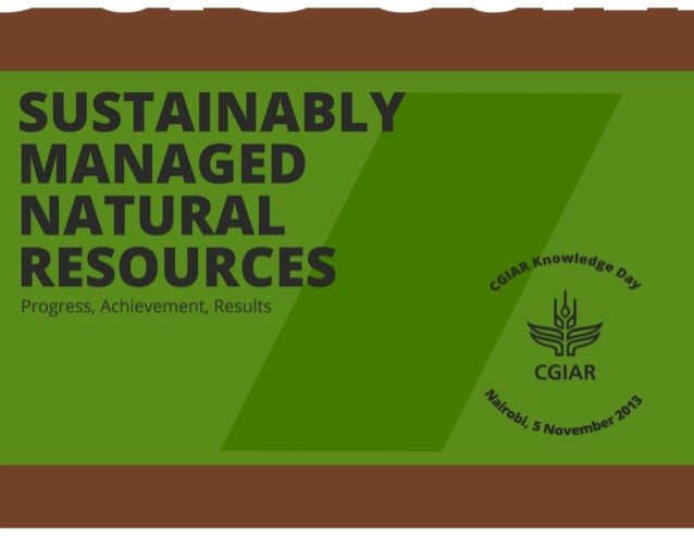 Sustainable managed natural resources system-level outcome: Progress, achievements, results