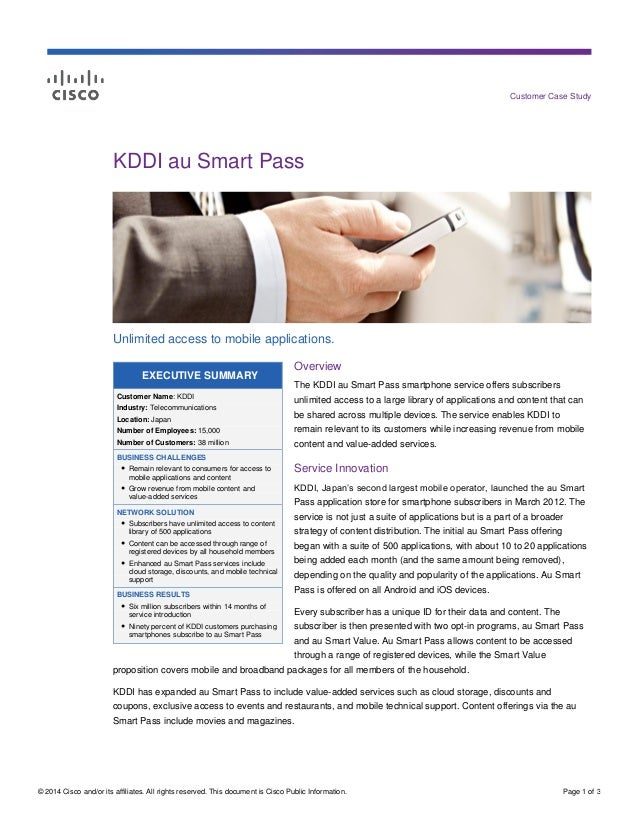 © 2014 Cisco and/or its affiliates. All rights reserved. This document is Cisco Public Information. Page 1 of 3 Customer C...