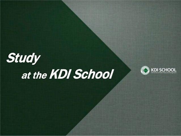 Study  at the KDI   School
