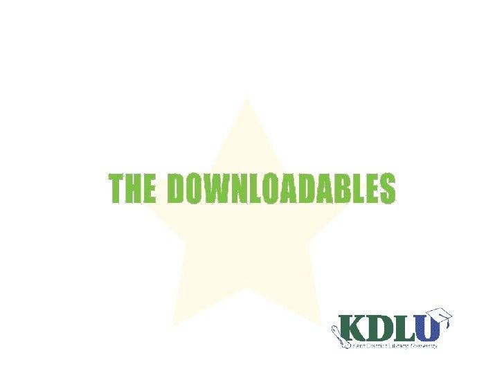 KDL - The Downloadables