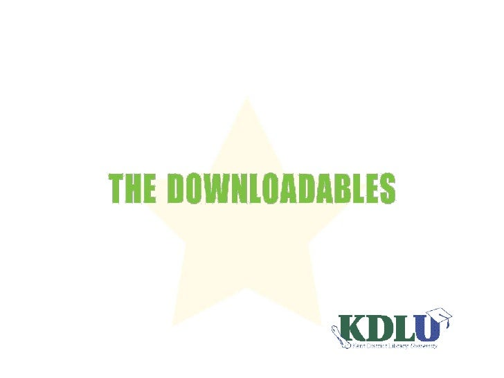 KDL - The Downloadables