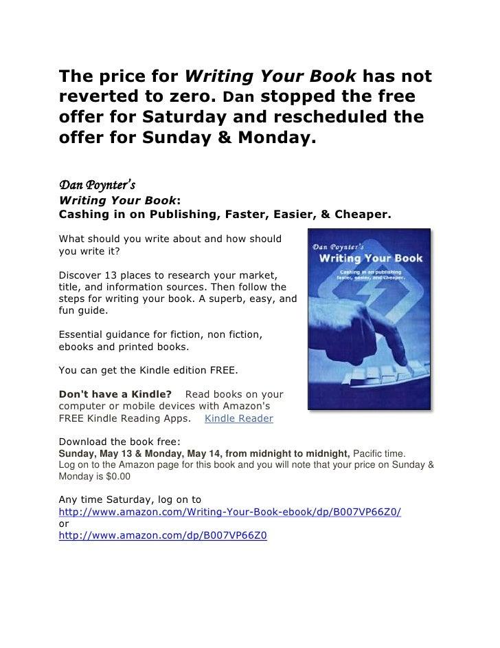Dan Poynter's Writing Your Book: FREE