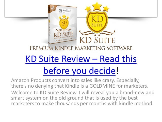 KD Suite Review – Read thisbefore you decide!Amazon Products convert into sales like crazy. Especially,there's no denying ...