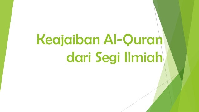 Keajaiban Al-Quran dari Segi Ilmiah