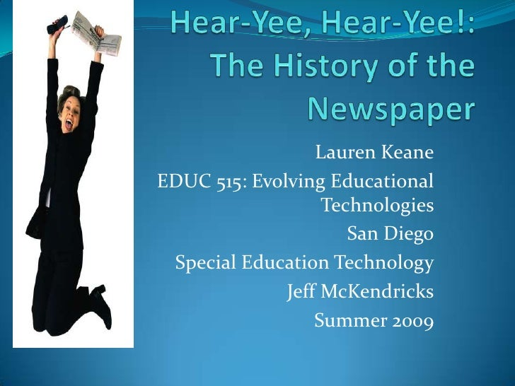 Evolution of Newspapers EDUC 515
