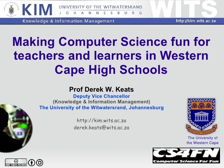 Computer Science for Fun in the Western Cape