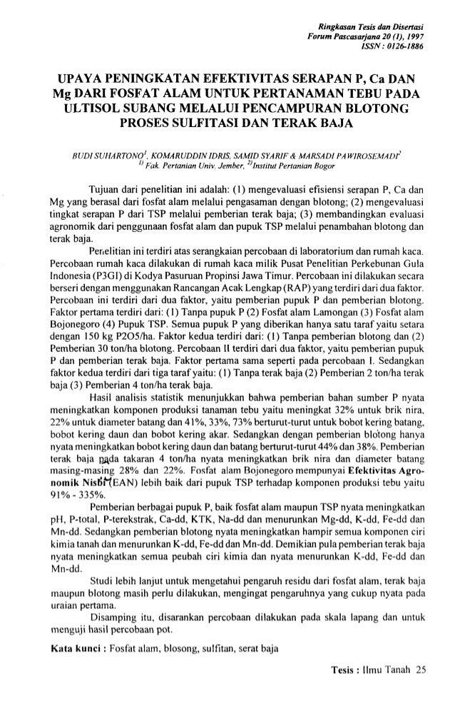 Ringkmon Tesis dun Disertari                                                               Forum Pmcasarjono 20 (I), 1997 ...