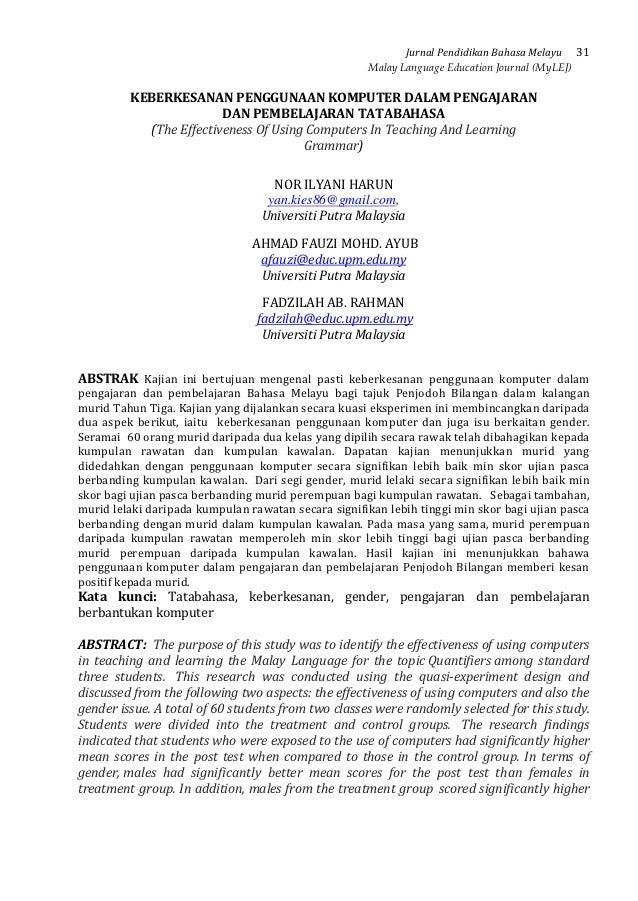 Jurnal Pendidikan Bahasa Melayu 31                                                     Malay Language Education Journal (M...