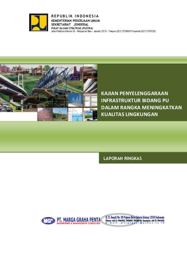 REPUBLIK INDONESIA g  KEMENTERIAN PEKERJAAN UMUM SEKRETARIAT JENDERAL PUSAT KAJIAN STRATEGIS (PUSTRA) Jalan Pattimura Nomo...