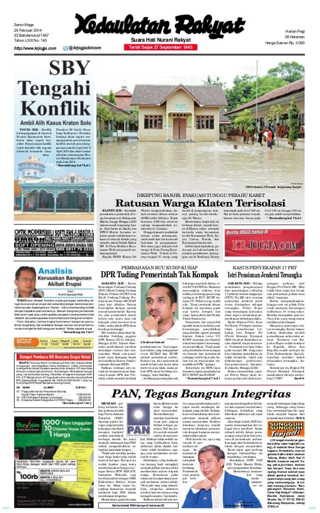 Kedaulatan Rakyat 24 Februari 2014