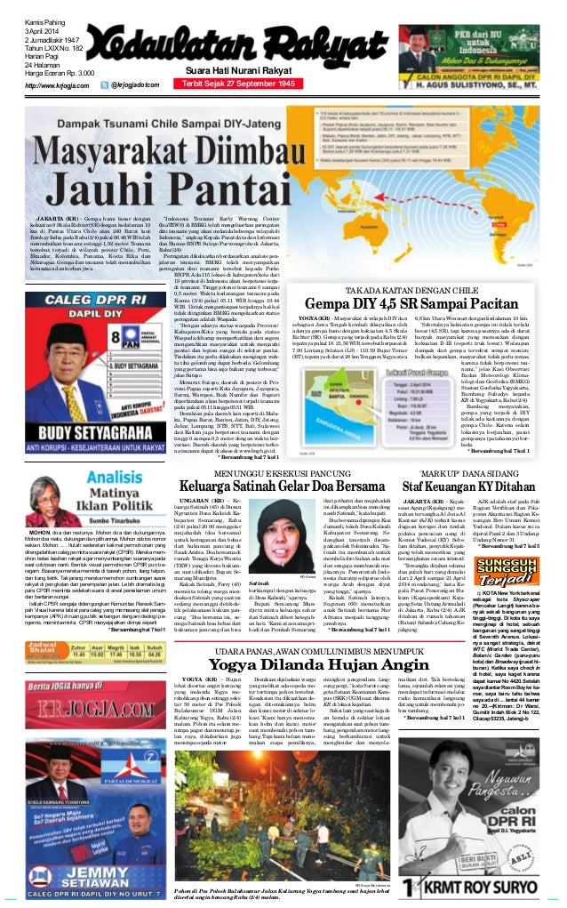 Kedaulatan Rakyat 3 Maret 2014