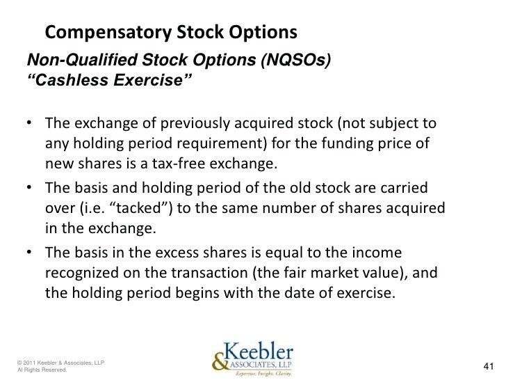Non qualifying stock options