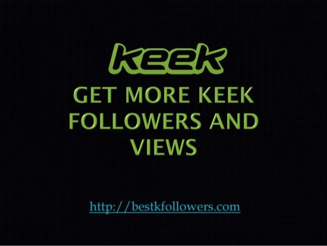 Keek web log in